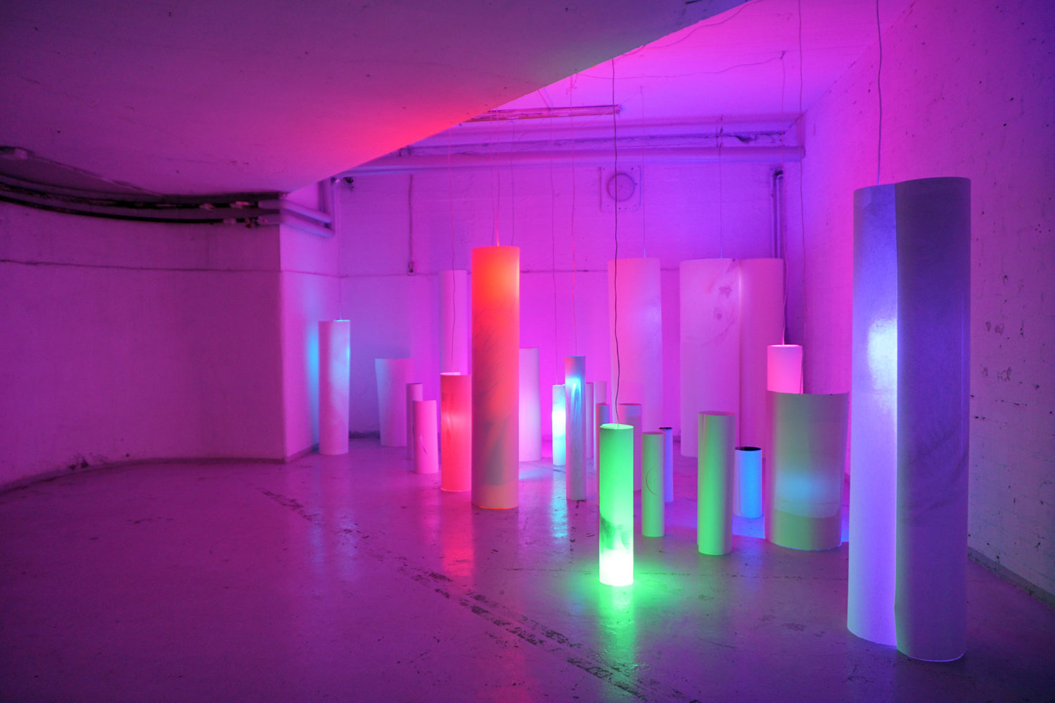 Henni Kitti: They Shine Vaguely Through My Consciousness. Installation